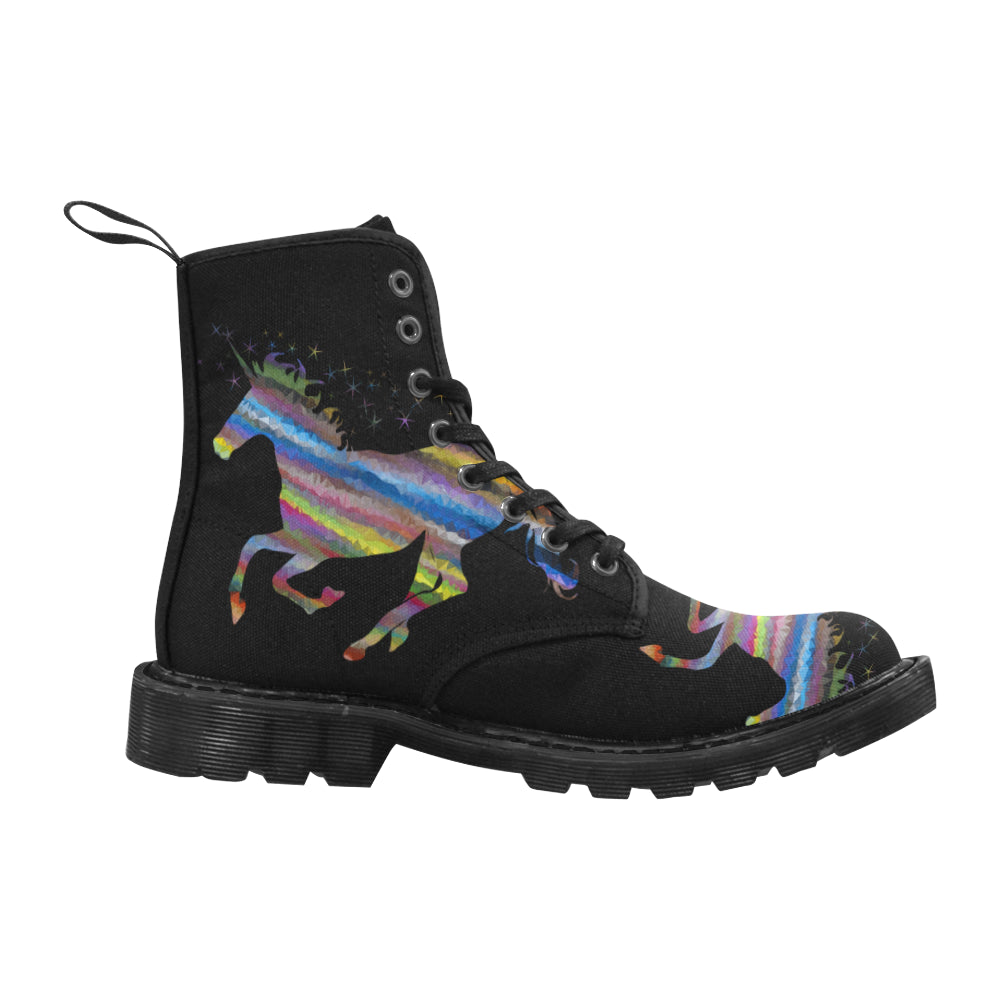 Amazing Le Unicorn Martin Style Boots for Women Black Combat Boots - CRE8Custom