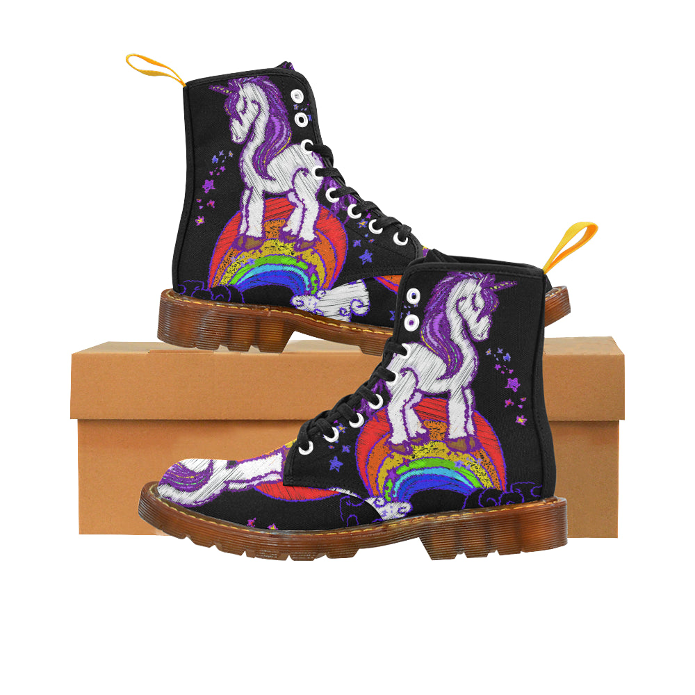 Awesome Design Le Unicorn Martin Style Boots For Women Combat Boots - CRE8Custom