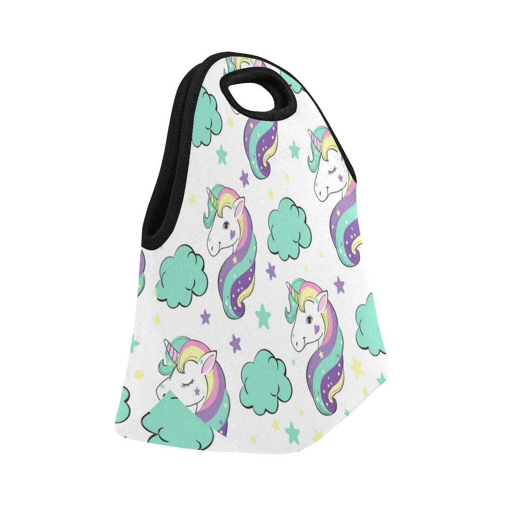 Unicorn in the clouds Pop Art Neoprene Lunch Bag/Small