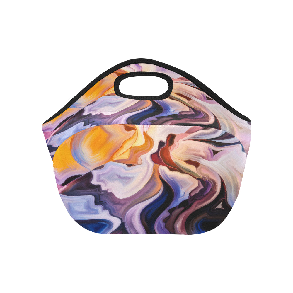 Abstract Art Neoprene Lunch Bag/Small - CRE8Custom