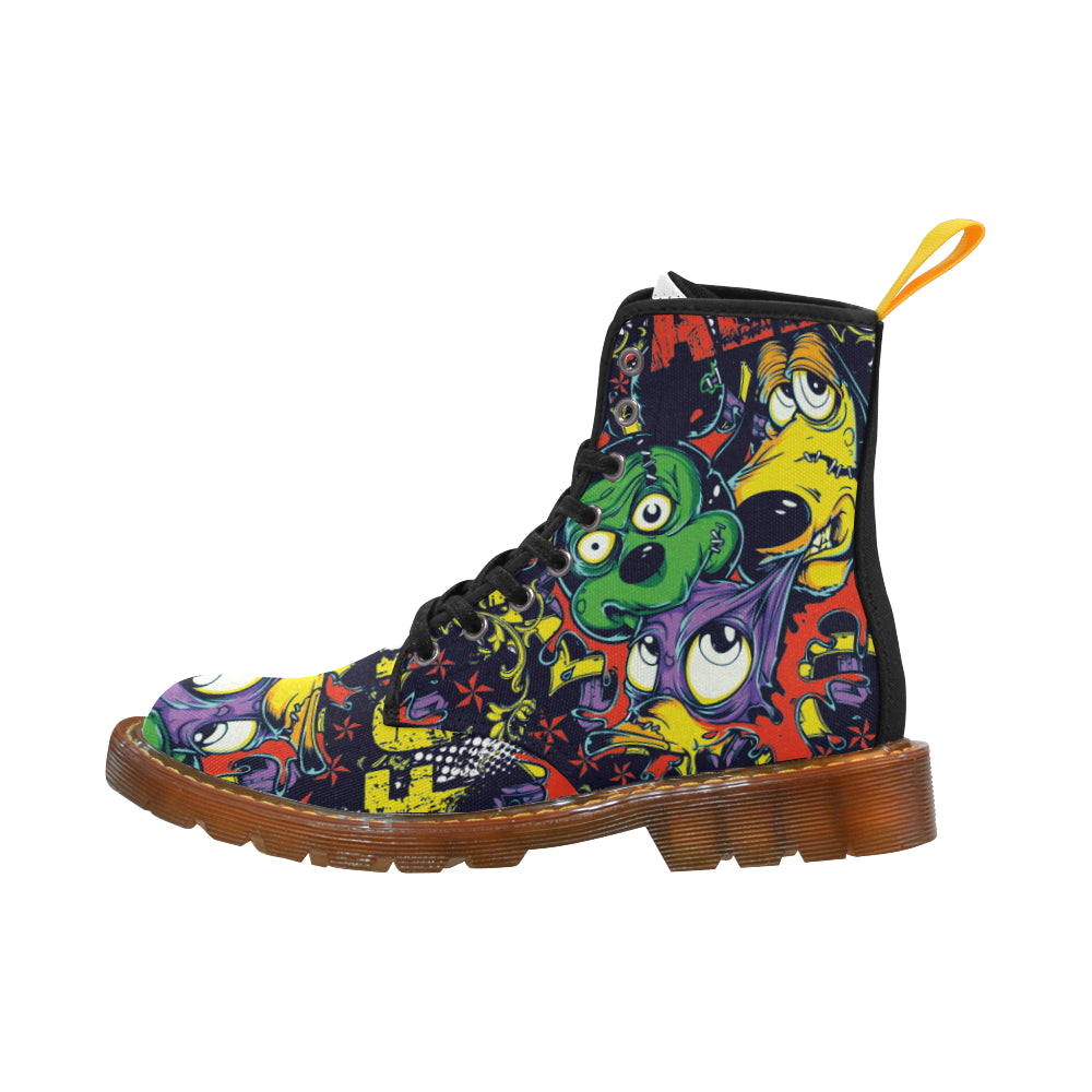 Animal Cartoon Martin Style Boots For Women Combat Boots - CRE8Custom