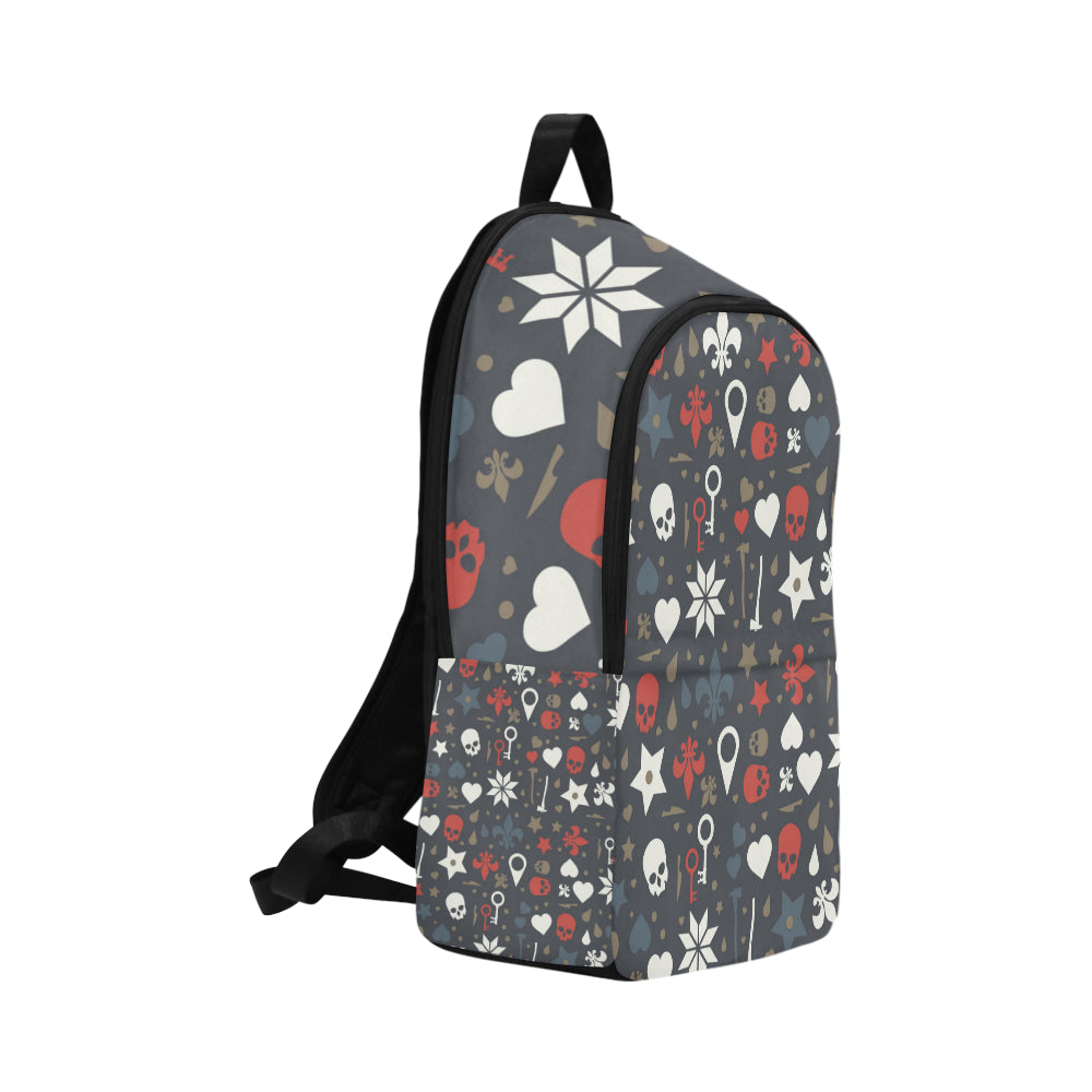 Arts Pattern and Hearts Fabric Backpack for Adult - CRE8Custom