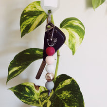 Load image into Gallery viewer, Plum Rose Silicone Keychain