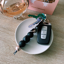 Load image into Gallery viewer, Black & Rose Gold Silicone Keychain