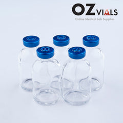 30ml Glass Vials Moulded 36x63mm Rubbers and Lid Combo u/s