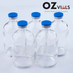 100ml Glass Vials Moulded 51x95mm Rubbers and Lid Combo u/s
