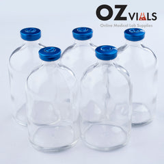 100ml Glass Vials Moulded 51x95mm Rubbers and Lid Combo