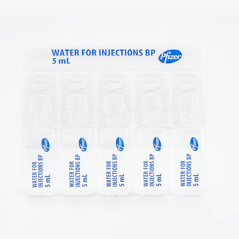 5 x Sterile Water 5ml Ampoules Pfizer
