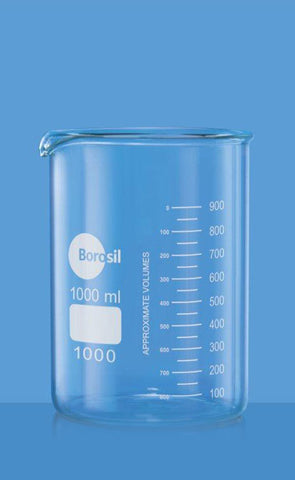 Borosil Glass beaker 1000ml low form