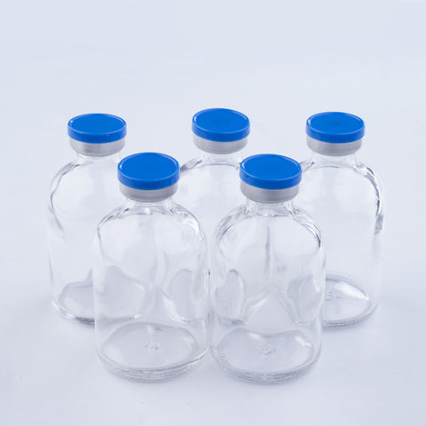 50ml Glass Vials Moulded 41x70mm Rubbers and Lid Combo