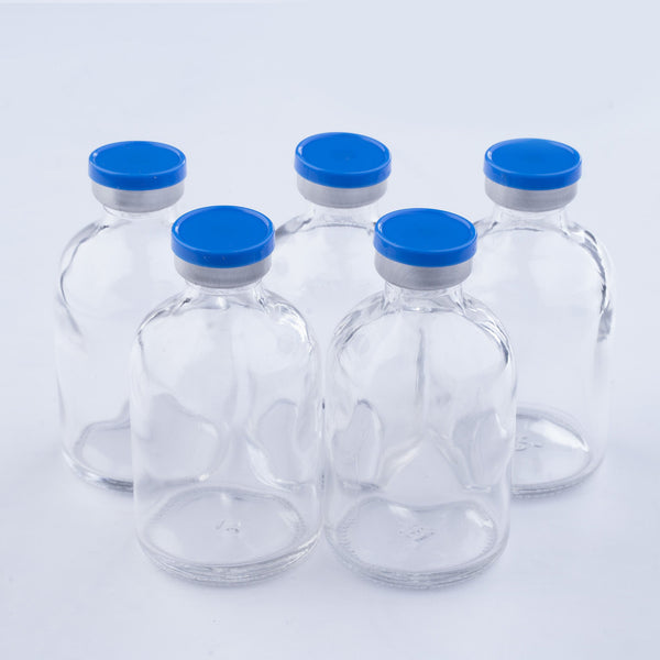 50ml Glass Vials Moulded 41x70mm Rubbers and Lid Combo s/s