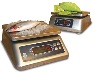SS- IP68 - Digital Table Scales - Stainless Steel / Waterproof Portion Scales