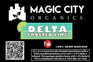 Magic City Primo Rolls – Δ8 Frosted Lime (2-pack) - Magic City Organics