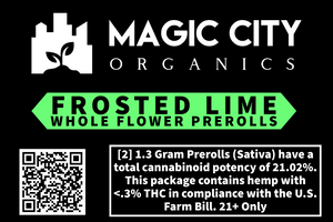 Magic City Premium Rolls –USDA Organic Frosted Lime (2-pack)