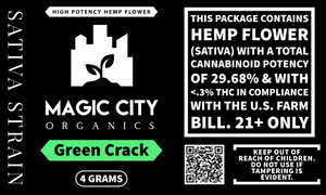Magic City Primo || High Potency Hemp - Green Crack 29%