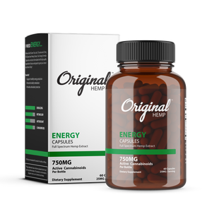 Original Hemp Co | Energy Capsules (750mg) | Full Spectrum