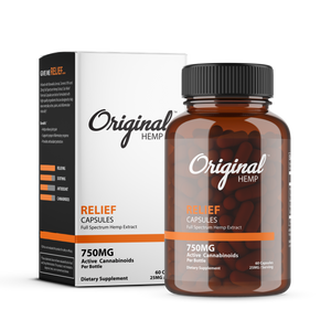 Original Hemp Co |  Relief Capsules (750mg) | Full Spectrum