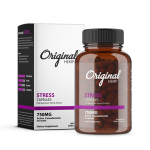 Original Hemp Co |  Stress Capsules (750mg) | Full Spectrum - Magic City Organics