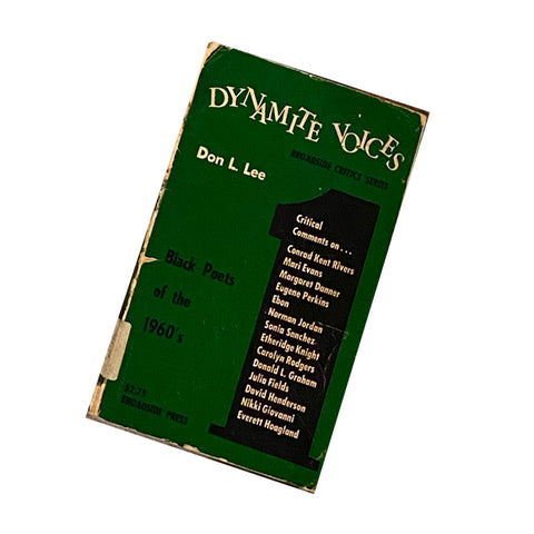 Dynamite Voices I: Black Poets of the 1960's