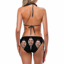 Custom Face Zipper Photo Women's Bikini Sexy Suit Free Size