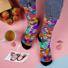 Custom Superhero Comic Face Socks Add Pictures And Name
