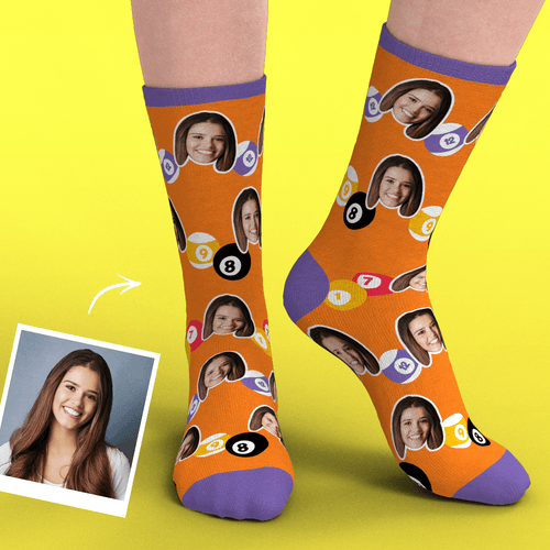 Custom Face Socks Add Pictures-Snookers