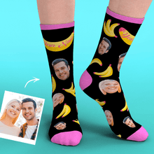 Custom Two Face Socks Add Pictures-Banana