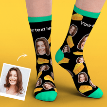 Custom Face Socks Add Pictures-Cheese