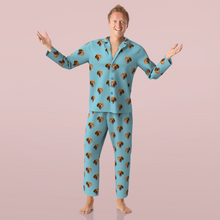 Custom Face Pajamas Long Sleeve Sleepwear Colorful