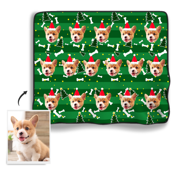 Christmas Photo Blanket - Dog