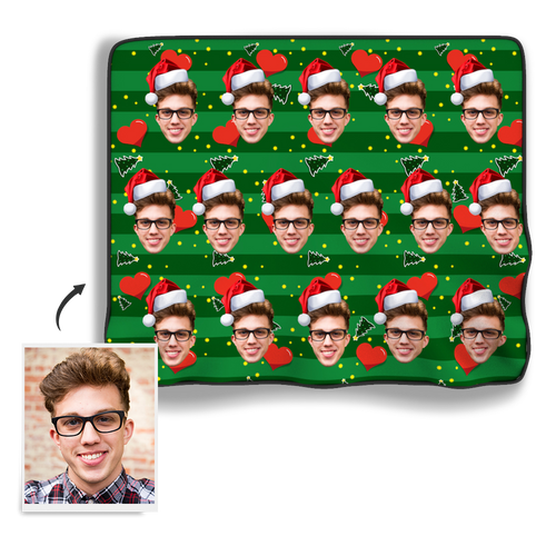 Christmas Photo Blanket - Heart