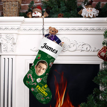 Custom Face Christmas Stocking Best Friends Add Pictures And Name