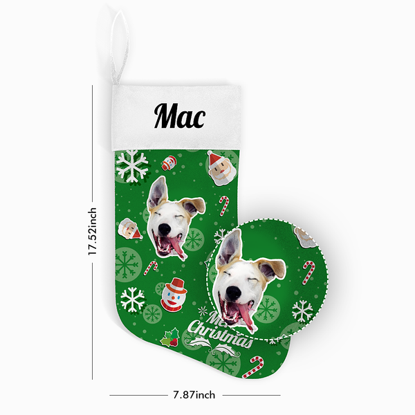 Custom Face Christmas Stocking Snowman Hero With Your Text