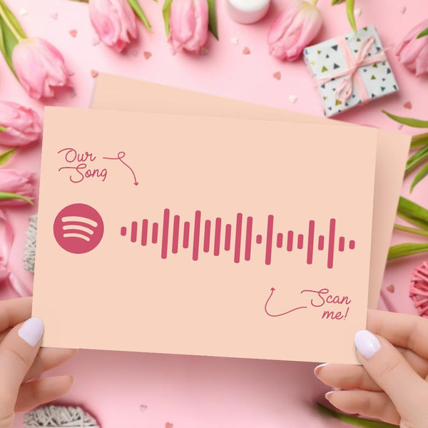 Custom Spotify Code Mother's Day Greeting Card Personalized Happy Mother's Day Gift Card