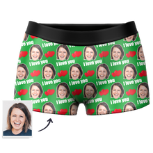 Custom Face Boxer Shorts 3D Preview - Love