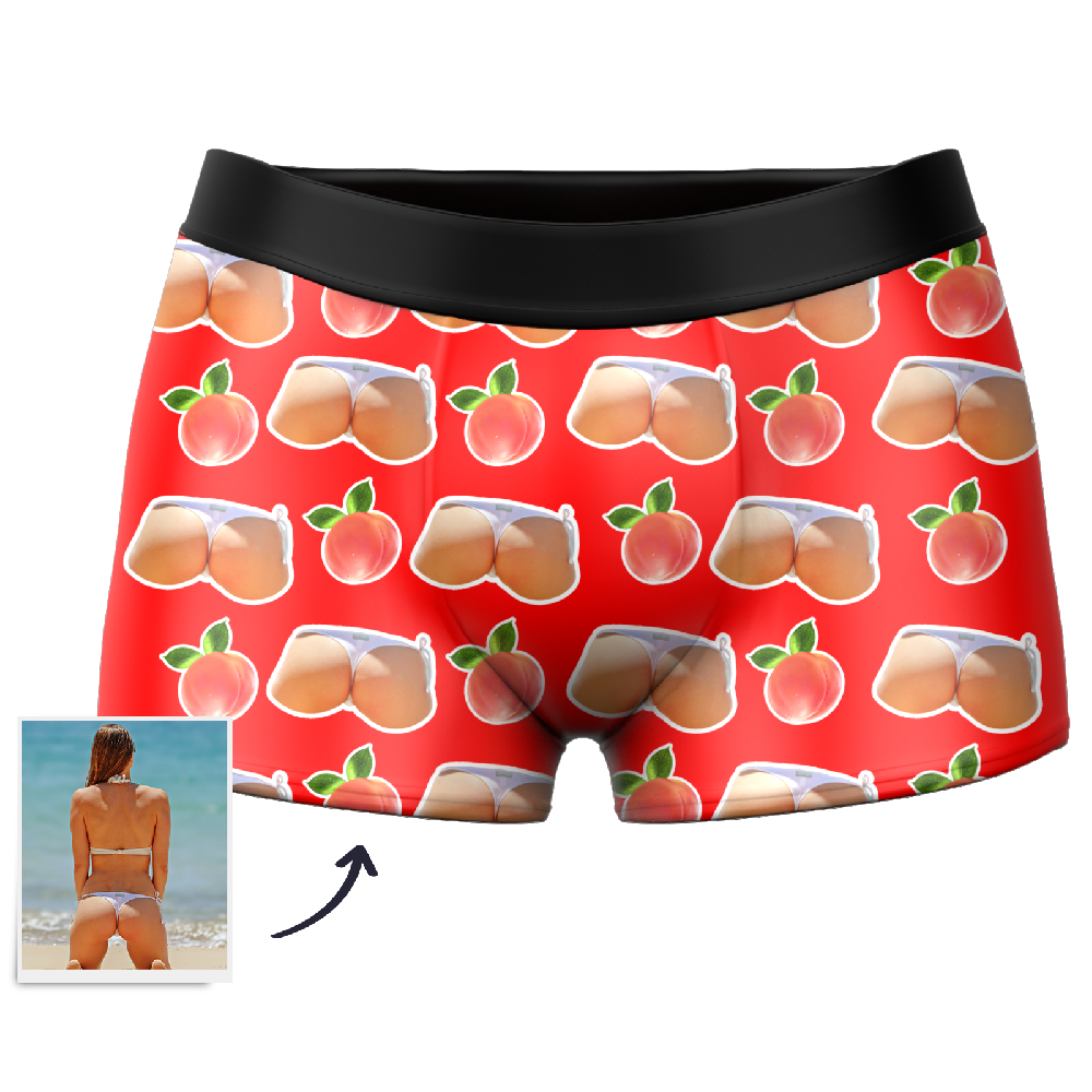 Custom Face Boxer Shorts - Booty