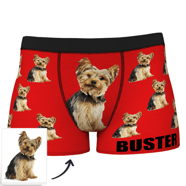 Custom Dog Boxer Shorts Painted Art Portrait - MyFaceSocks