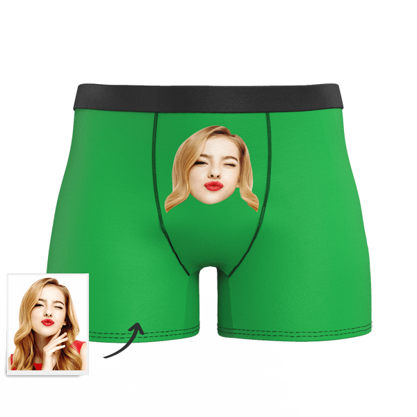 Custom Man Face Colorful Boxer Shorts