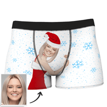 Custom Face Men's Christmas Face On Body Boxers