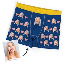 Custom Personalized Face Heart Boxer