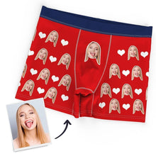 Custom Personalized Face Heart Boxer Personalised Men's Briefs Sexy Gift