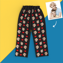Custom Face Pajamas Heart Long Sleeve Nightwear