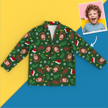 Custom Face Christmas Long Sleeve Pajamas