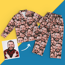 Custom Face Pajamas Face Mash Long Sleeve Pajamas Set