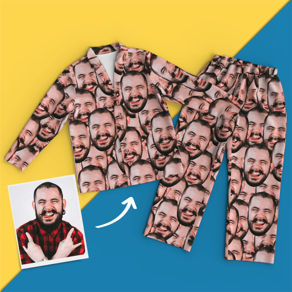 Custom Face Pajamas - Face Mash