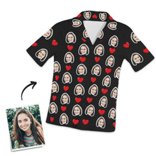Customized Photo Short Sleeved Pajamas Home pajamas-Hearts