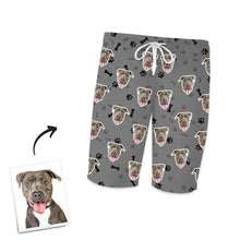 Custom Photo Short Sleeved Pajamas Pet Bone Pajamas