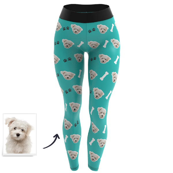 Custom Face Leggings - Dog