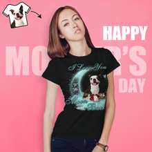Custom Woman's Dog Mom T-shirt I Love You To The Moon And Back Mother's Day Gifts