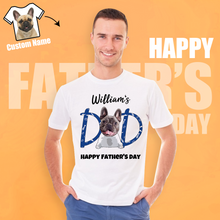Custom Man's Photo T-shirt With Your Name Dog Dad Father's Day Gifts